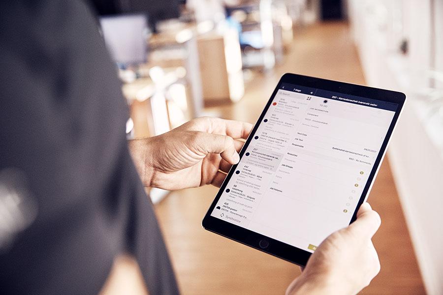 INEXTIA App på en tablet